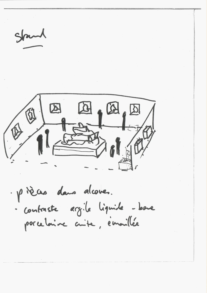 Artist's sketch of his on-site installation at artgenève 2017