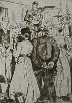 , 'Auction,' 1925, Paramour Fine Arts