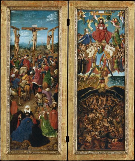 Jan van Eyck, 'The Crucifixion; The Last Judgment', ca. 1440–1441, The Metropolitan Museum of Art