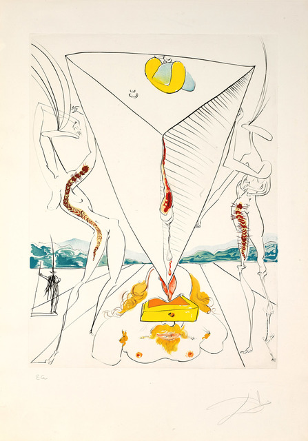Salvador Dalí, 'Philosopher Crushed by the Cosmos (The Conquest of Cosmos)', 1974, Martin Lawrence Galleries