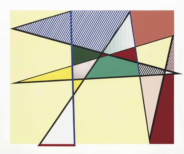 """Roy Lichtenstein, 'Imperfect 67 x 79 7/8"""", from Imperfect Series', 1988, Christie's"""