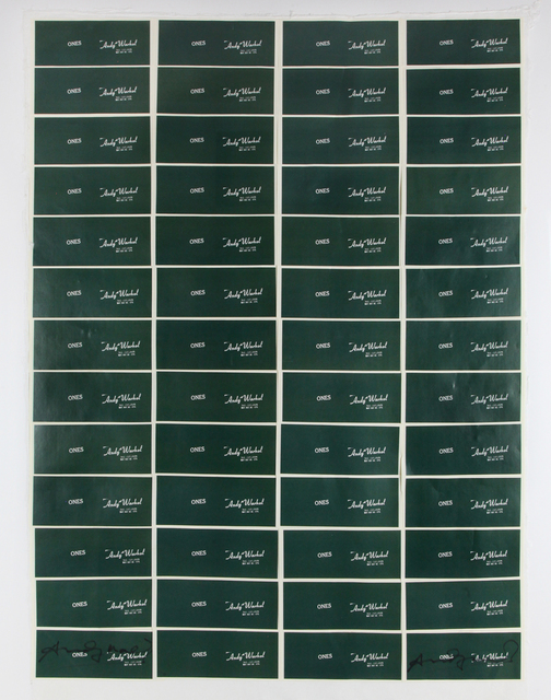 Andy Warhol, 'Art Cash - Ones', 1971, Bertolami Fine Arts