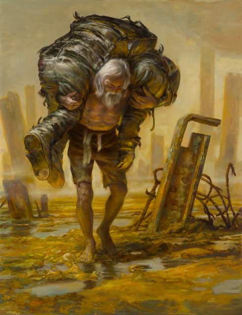 Donato Giancola, 'Burdens from the Past', 2018, Painting, Oil on panel, IX Gallery
