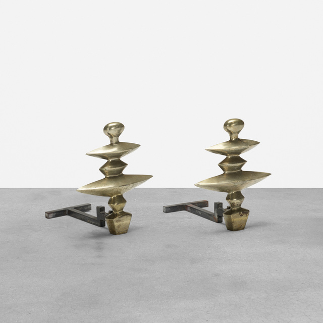 After Alberto Giacometti, 'Andirons, Pair', 1936, Wright