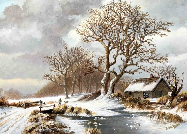 , 'Cottage along the edge of the forest,' , ArtBoutique