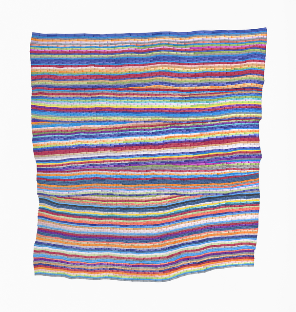Carly Glovinski, 'The Second Vertical Rag Rug', 2017, Morgan Lehman Gallery