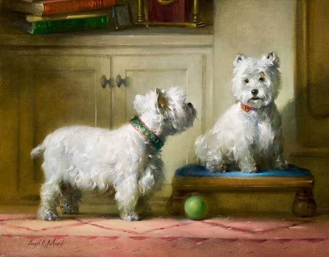 , 'Let's Play Ball,' , Dog & Horse Fine Art