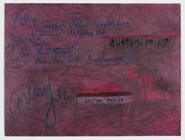 , 'Portrait of Philip Guston via Partial Artist File from KK (Study),' 2017, Fleisher/Ollman