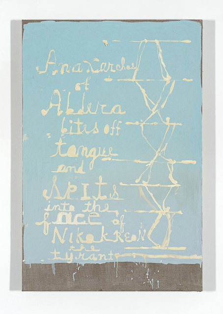 , 'Anaxarchos of Abdera bites off Tongue,' 2014, Anthony Reynolds Gallery