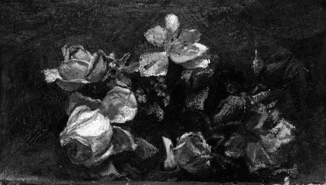 John La Farge, 'Flowers—Decorative Study', by 1890; reworked 1910, Painting, Encaustic on canvas, Clark Art Institute