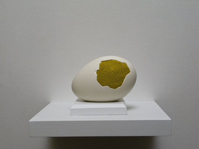 , 'Patched egg (goose egg 1),' 2017, Muriel Guépin Gallery
