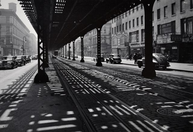 Todd Webb, 'Under the El, Third Avenue, New York', 1946, Scheinbaum & Russek Ltd.