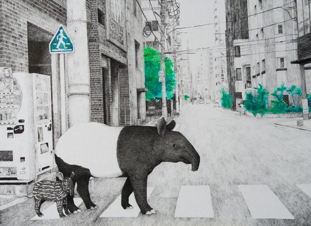 , 'HAZAMA-17 Malayan tapir,' 2018, Mottas