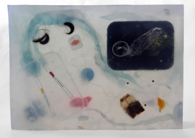 , 'Some residues of a midsummer night's swipe,' 2015, Jennifer Sullivan