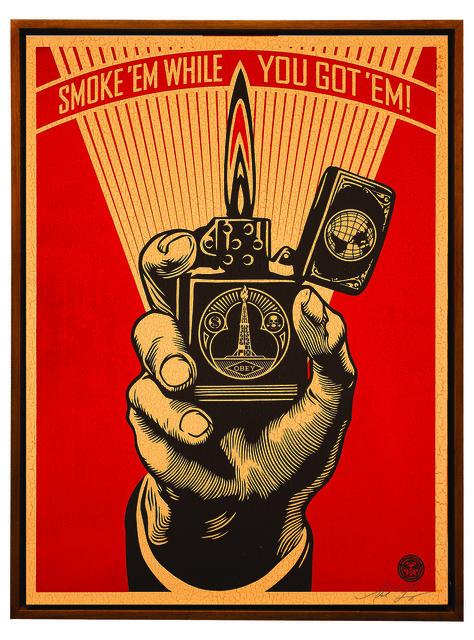 Shepard Fairey (OBEY), 'Smoke 'em While You Got 'em', 2015, Underdogs Gallery