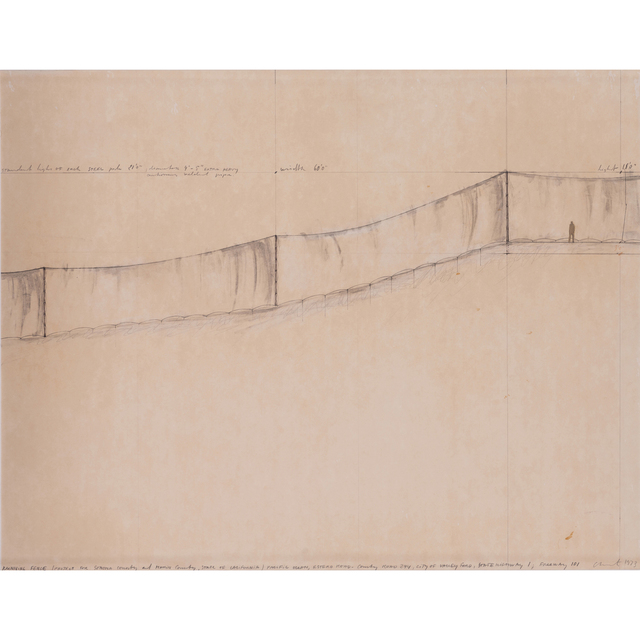 Christo and Jeanne-Claude, 'Running Fence (project for Sonoma Country, and Marin Country, State of California)', 1973, PIASA