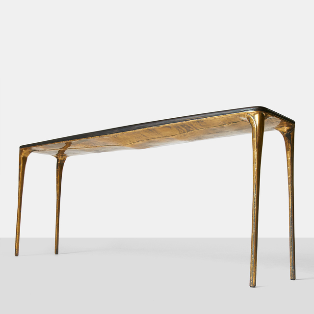 , 'Charred Oak & Brass Console,' 2016, Almond & Co.
