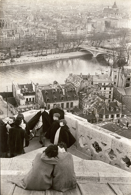Henri Cartier-Bresson, 'Schoolchildren Looking from the Top of Notre-Dame Cathedral at the Seine River, Paris', 1953/1955c, Photography, Silver print unmounted, Contemporary Works/Vintage Works