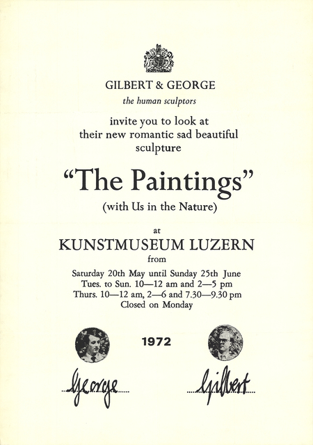 Gilbert and George, 'The Paintings (with Us in the Nature)', 1972, ArtWise