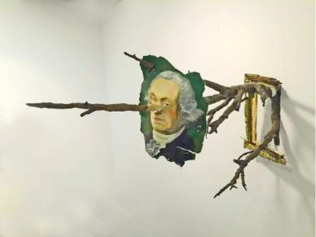 , 'George Washington with Branch,' 2017, Burning in Water