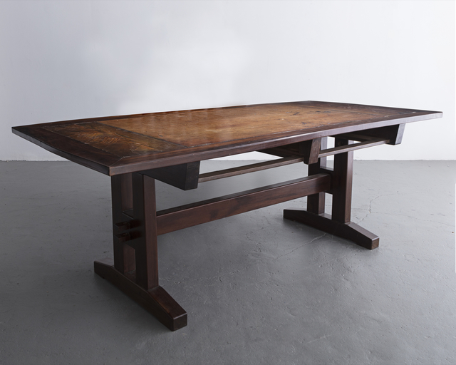 ", '""David"" custom desk in solid wood. Designed by Sergio Rodrigues, Brazil, 1980s.,' , R & Company"