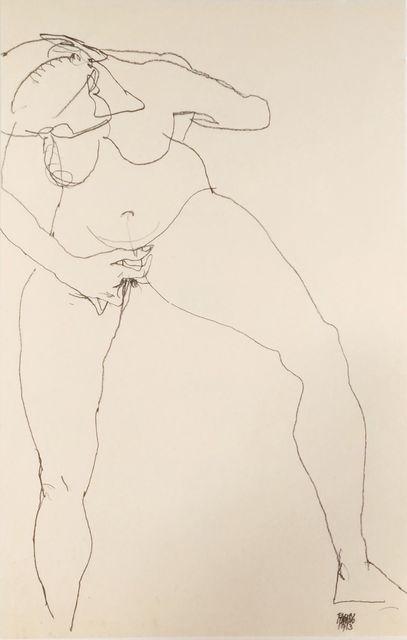 , 'Stehende Frau Masturbierend,' 1990, Wallector