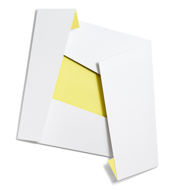 , 'Large White & Yellow Folded Flat 01,' 2015, Häusler Contemporary