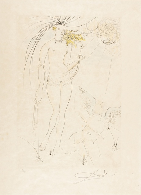 Salvador Dalí, 'Vénus et l'Amour (M&L483b; Field 71-8D)', 1971, Print, Drypoint printed in colours, Forum Auctions