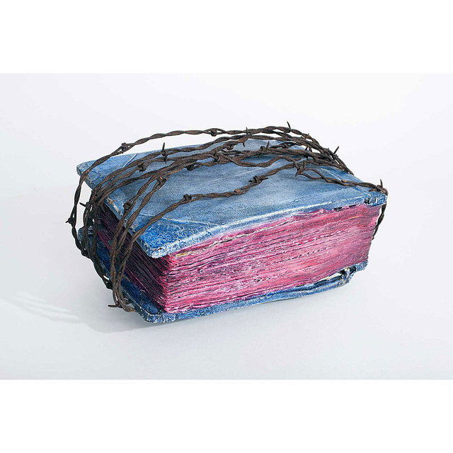 , 'Untitled (Barbed Wire-Bounded Book),' 1973, Allan Stone Projects