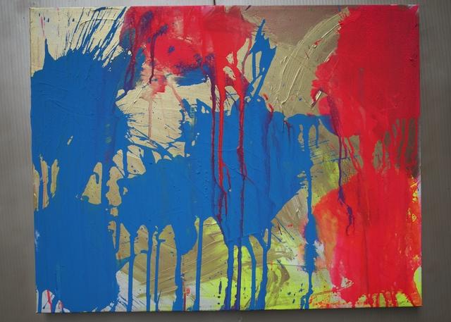 Ushio Shinohara, 'Red and Blue on Gold', 2018, Deborah Colton Gallery
