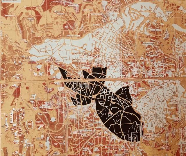 , 'Mapaglypha: A Goldfish in Jerusalem City,' 2011, Imlay Gallery