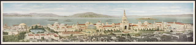 , 'Panoramic View of the Panama-Pacific International Exposition—San Francisco, California,' 1915, de Young Museum