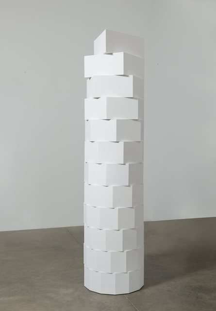 , 'Column, White, Natural Progression,' 2016, Koenig & Clinton