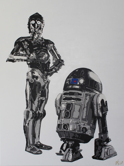 , 'C-P3O & R2-D2,' 2107, Wallspace