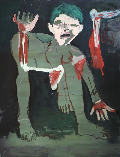 , 'Cabelo verde [Green hair],' 2017, Casa Triângulo