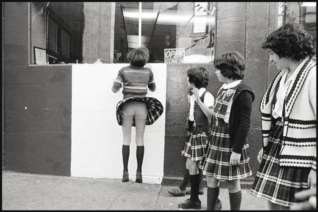 , '-After-school-on-the-corner-of-Prince-and-Mott-Streets ,' 1976, Galerie Catherine et André Hug