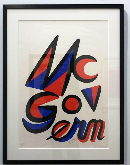 , 'McGovern for McGovernment (Signed by BOTH Alexander Calder and George McGovern),' 1972, Alpha 137 Gallery