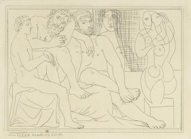 Pablo Picasso, 'Sculpteurs, modèles et sculpture, from La Suite Vollard', 1933, Christie's