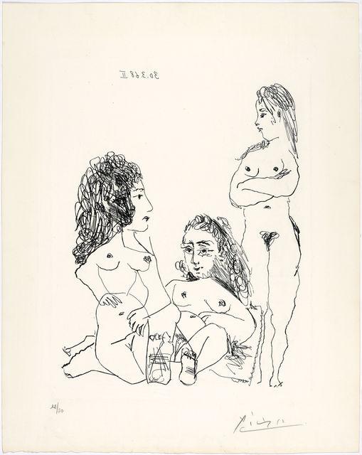 Pablo Picasso, 'Trois femmes', 1968, Print, Etching, Koller Auctions