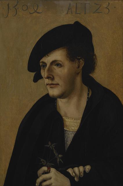 Hans Schäufelein the Elder, 'Portrait of a Young Man', 1504, Indianapolis Museum of Art at Newfields