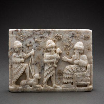 Unknown Sumerian, 'Sumerian relief plaque in calcite alabaster', 3000 BCE-2000 BCE, Barakat Gallery