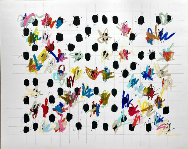 Colleen Leach, 'Bold Linear ', 2021, Painting, Mixed Media on Paper, Shain Gallery