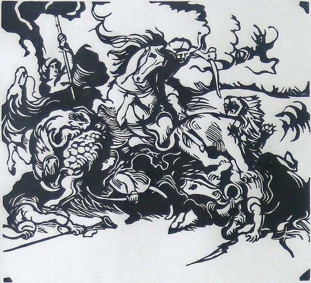 , 'Löwenjagd nach Delacroix,' 1913, Galerie Thomas
