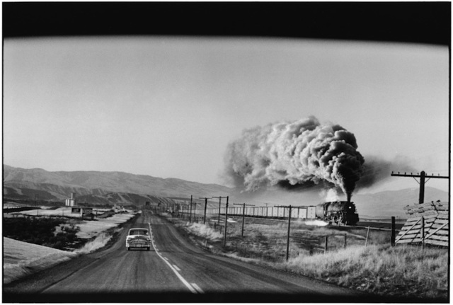 , '6. Wyoming. (Train & car),' 1954, f22 foto space
