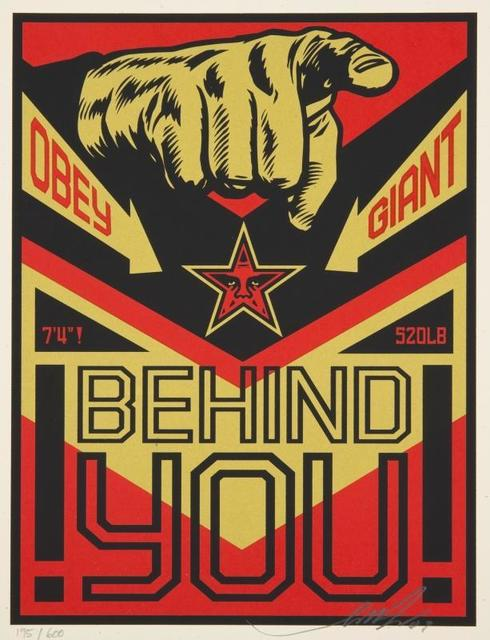Shepard Fairey, 'Behind You', 2009, Samhart Gallery
