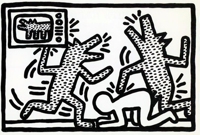 Keith Haring, 'Keith Haring '6 Lithographs' announcement card, 1982', 1982, Lot 180