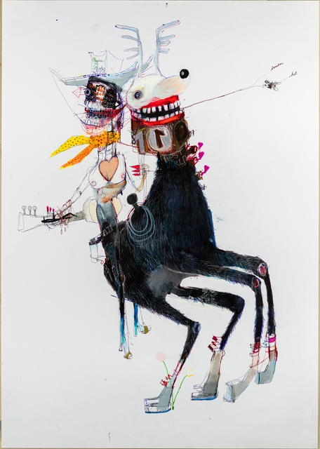 Kinki Texas, 'Queen of sega ', 2020, Drawing, Collage or other Work on Paper, Pencil on paper, GALERIE BENJAMIN ECK