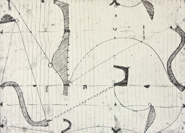 Caio Fonseca, 'Notations III', 1998, Print, Softground etching with chine collé, Paulson Fontaine Press