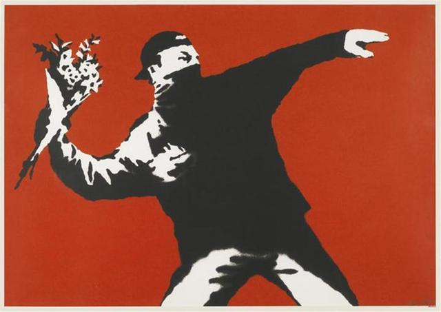Banksy, 'Love is in The Air', 2003, Lougher Contemporary