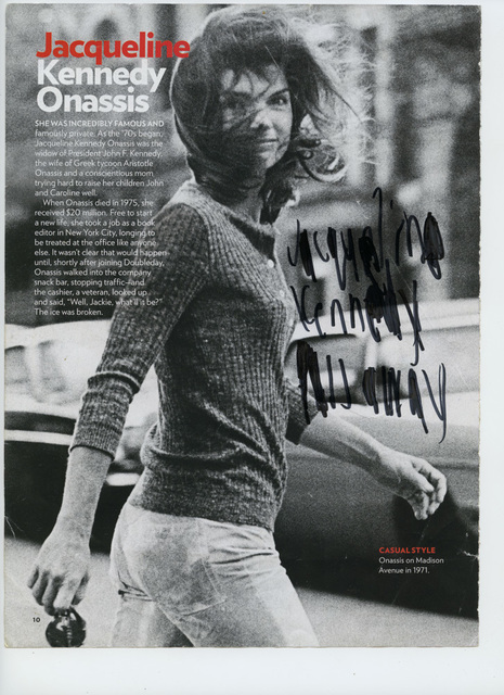 , 'Jacqueline Kennedy pass away [framed],' 2016, Creativity Explored